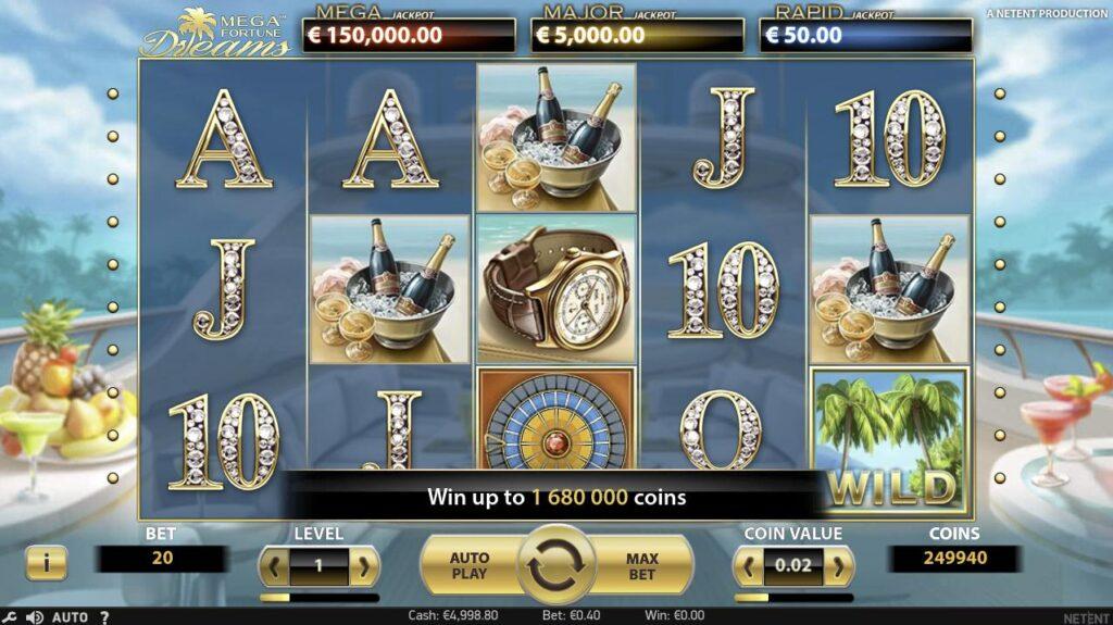 mega fortune dreams rtp